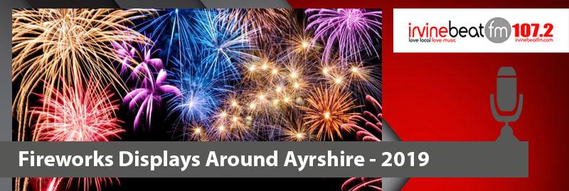 Firework display dates for Ayrshire 2019