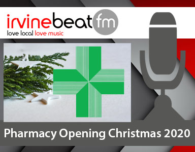 Christmas New Year Pharmacies 2020 Ayrshire